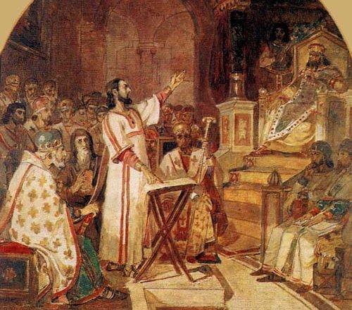 Константин на соборе